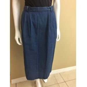 autumn shoes buy popular low price sale Talbots Blue Denim Midi Skirt A Line 6P Petite